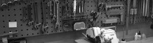 Reparation af symaskiner på værkstedet