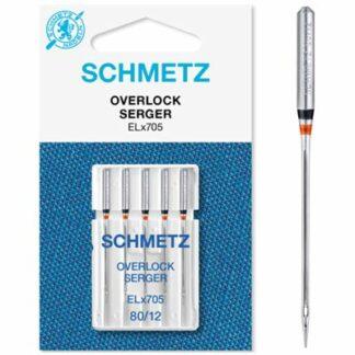 Schmetz ELx705 80x5 overlock nåle Hobbysy