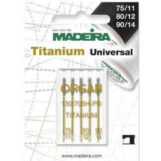 Madeira 9459T universal symaskinenåle titan ass Hobbysy