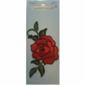Applikation blomst rød