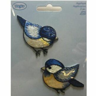 Applikation blå fugle