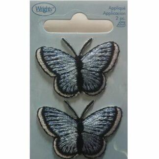 Applikation sommerfugl blå.