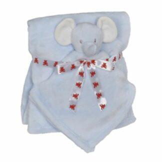 Babytæppe elefant lyseblå