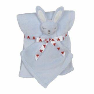 Babytæppe kanin 41192 lyseblå